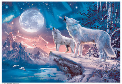 Twilight Howl 100 XXL Oversized Pieces *Glitter* Jigsaw Puzzle | Ravensburger