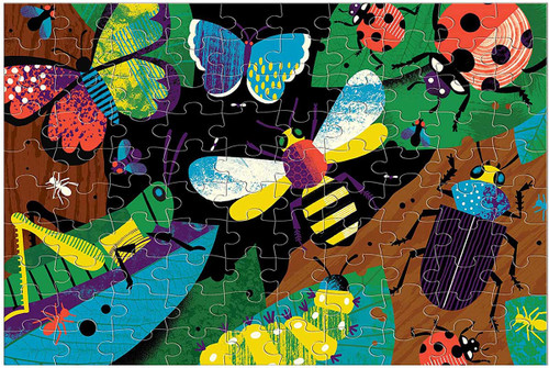 Amazing Insects 100 Piece *Glow in the Dark* Jigsaw Puzzle | Mudpuppy