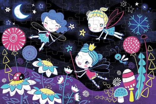 Fairies 100 Piece *Glow in the Dark* Jigsaw Puzzle | Mudpuppy