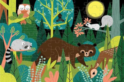 In The Forest 100 Piece *Glow in the Dark* Jigsaw Puzzle | Mudpuppy