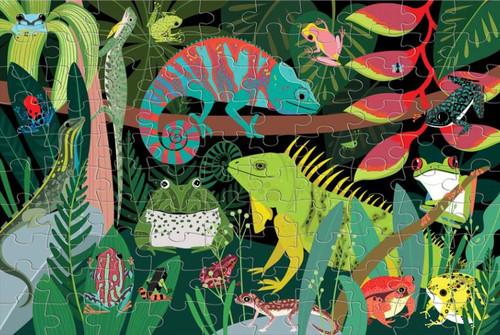 Frogs & Lizards 100 Piece *Glow in the Dark* Jigsaw Puzzle | Mudpuppy