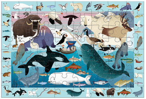 Arctic Life 64 Piece Search & Find Jigsaw Puzzle | Mudpuppy
