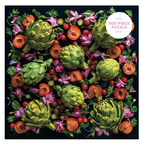 Artichoke Floral 500 Piece Jigsaw Puzzle | Galison