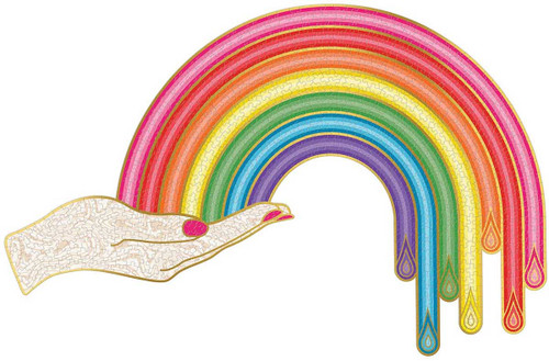Rainbow Hand - Jonathan Adler - 750 Piece *Shaped* Jigsaw Puzzle   Galison