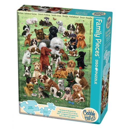 Puppy Love 350 *Family Pieces* Jigsaw Puzzle | Cobble Hill