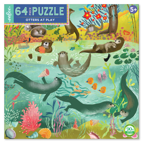 Otters at Play 64 Large Piece Jigsaw Puzzle | eeBoo