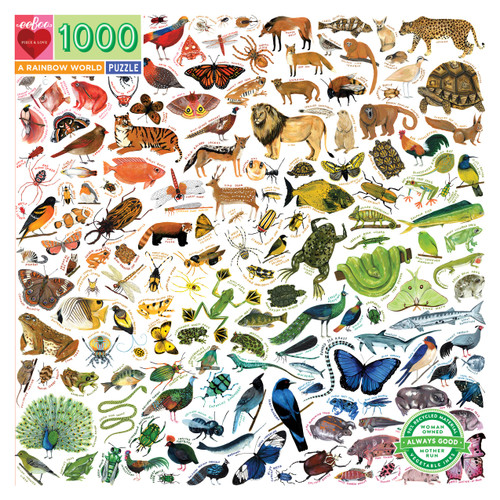 A Rainbow World 1000 Piece Jigsaw Puzzle   eeBoo
