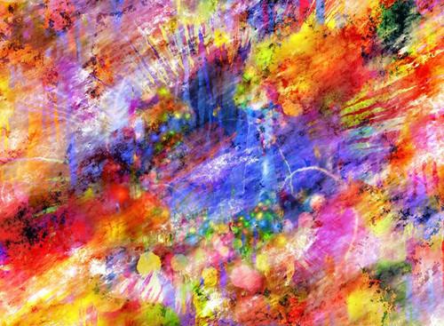 """Color Explosion"" 320 Large-Piece *Standard Cut* Wooden Jigsaw Puzzle | Nook"