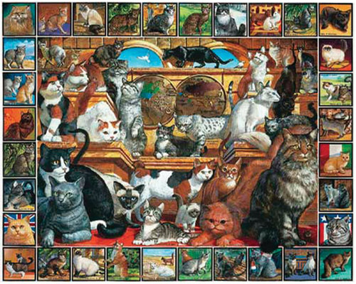 """""""World of Cats"""" 1000 Piece Jigsaw Puzzle 