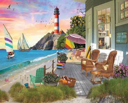"""Beach Vacation"" 1000 Piece Jigsaw Puzzle   White Mountain"