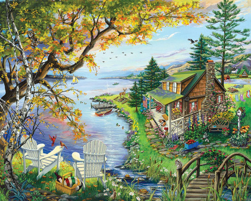 """""""By The Lake 1000"""" Piece Jigsaw Puzzle 