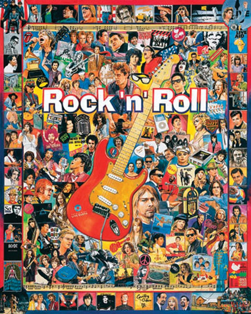 """""""Rock 'n' Roll"""" 1000 Piece Jigsaw Puzzle   White Mountain"""