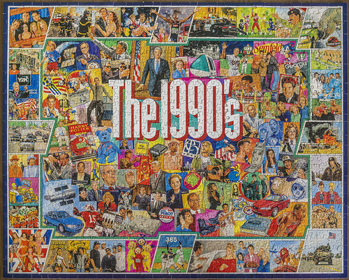 """""""The Nineties"""" 1000 Piece Jigsaw Puzzle 