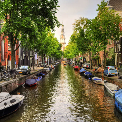 """""""Amsterdam Canal"""" 126 Piece Small Wooden Jigsaw Puzzle 