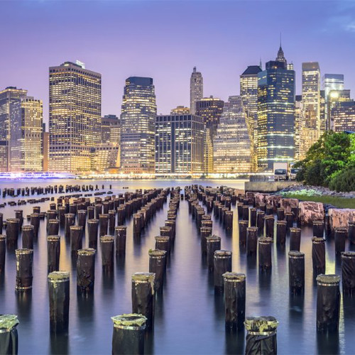 """New York City Skyline"" 48 Piece Teaser Wooden Jigsaw Puzzle 