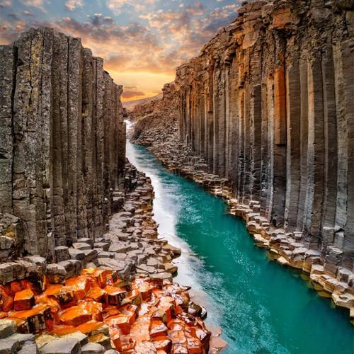 """Studlagil Canyon"" 50 Piece Teaser Wooden Jigsaw Puzzle | Zen Puzzles"