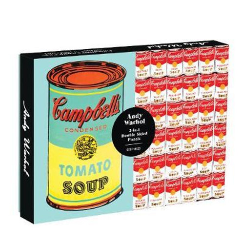 """""""Andy Warhol Soup Can"""" 500 Piece *Double Sided* Jigsaw Puzzle   Galison"""