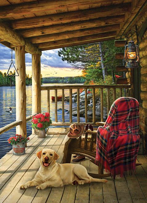 """Cabin Porch"" 1000 Piece Jigsaw Puzzle | Jack Pine"