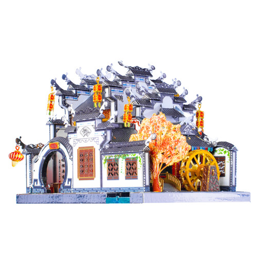 """Anhui Style Garden House"" Metal Model Kit 