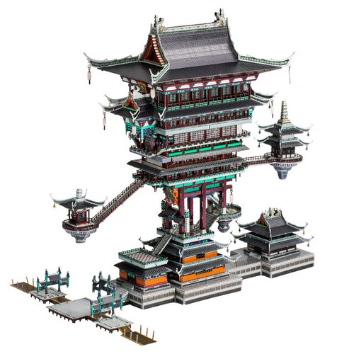 """Legend of Hei-Guild Hall"" Metal Model Kit 