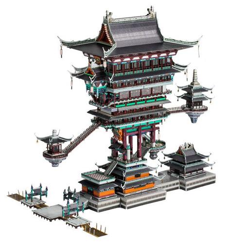 """Legend of Hei-Guild Hall"" Metal Model Kit | MU Model"