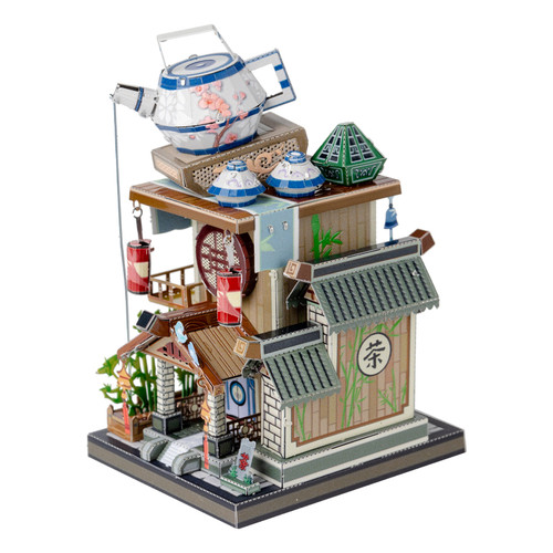 """China Teahouse"" Metal Model Kit 