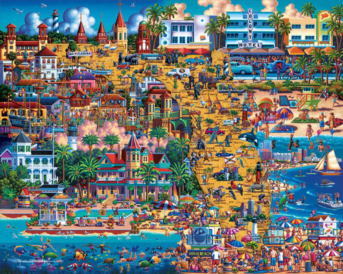 """Best of Florida"" 500 Piece Jigsaw Puzzle | Dowdle"
