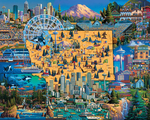 """""""Best of Seattle"""" 100 Piece Jigsaw Puzzle 