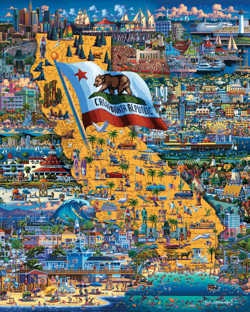 """""""Best of Southern California"""" 500 Piece Jigsaw Puzzle 