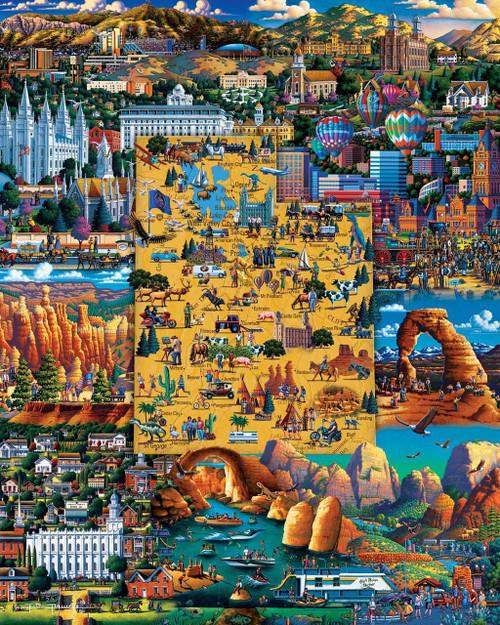 """Best of Utah"" 500 Piece Jigsaw Puzzle | Dowdle"