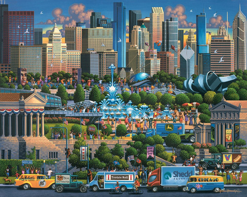 """Chicago"" 500 Piece Jigsaw Puzzle | Dowdle"