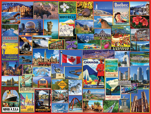 """Best Places in Canada"" 1000 Piece Jigsaw Puzzle 
