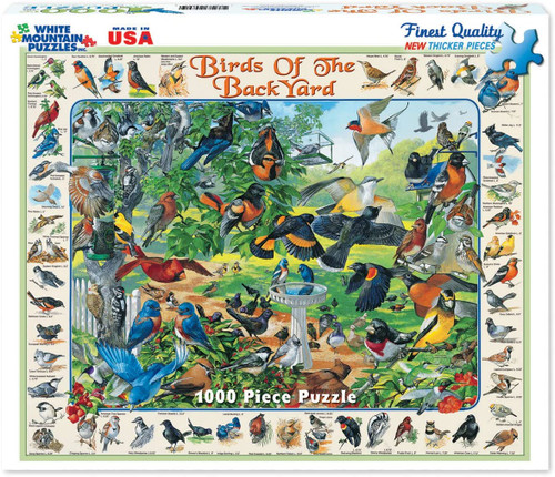 """Birds of the Back Yard"" 1000 Piece Jigsaw Puzzle 