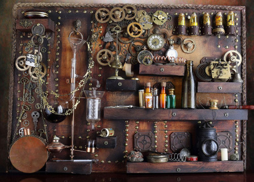 """""""Steampunk Distiller"""" 450 Piece *Whimsy Cut* Wooden Jigsaw Puzzle 