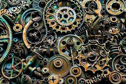 """""""Gears Aklion"""" 500 Piece *Whimsy Cut* Wooden Jigsaw Puzzle 