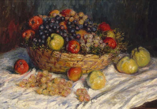 """Apples & Grapes, Claude Monet"" 500 Piece *Wild Cut* Wooden Jigsaw Puzzle 