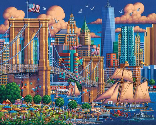 """Brooklyn Bridge"" 1000 Piece Jigsaw Puzzle | Dowdle"