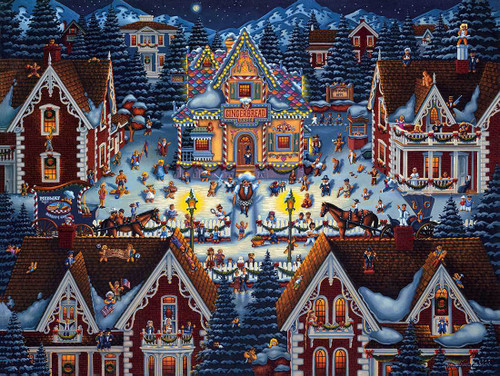 """""""Gingerbread House"""" 500 Piece Jigsaw Puzzle 