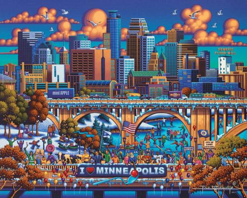 """""""Minneapolis"""" 500 Piece Jigsaw Puzzle   Dowdle"""