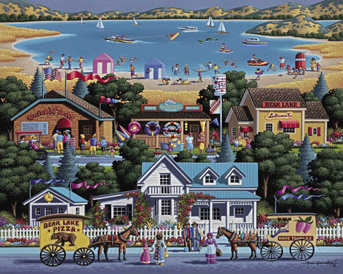 """Bear Lake"" 500 Piece Jigsaw Puzzle | Dowdle"