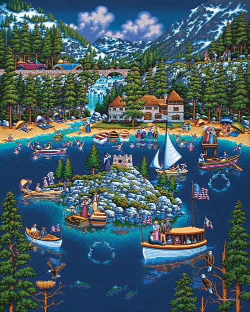 """Lake Tahoe"" 1000 Piece Jigsaw Puzzle | Dowdle"