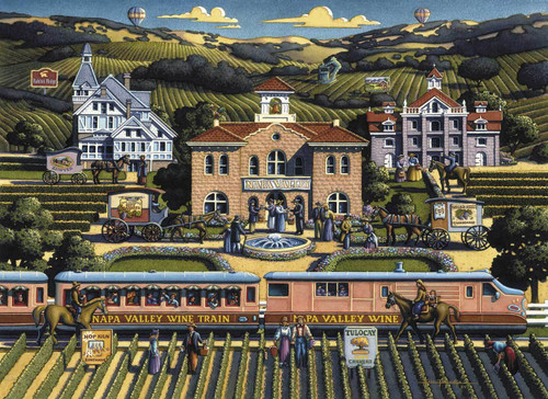 """Napa Valley"" 1000 Piece Jigsaw Puzzle | Dowdle"