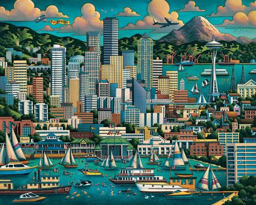 """Seattle"" 1000 Piece Jigsaw Puzzle | Dowdle"