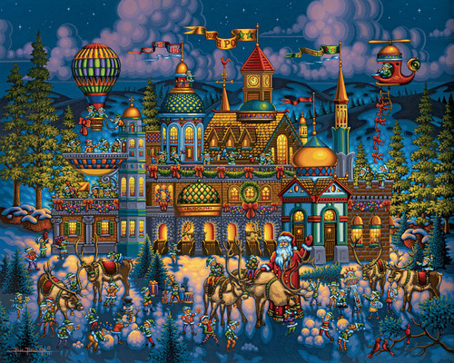 """Santa's Workshop"" 100 Piece Jigsaw Puzzle | Dowdle"
