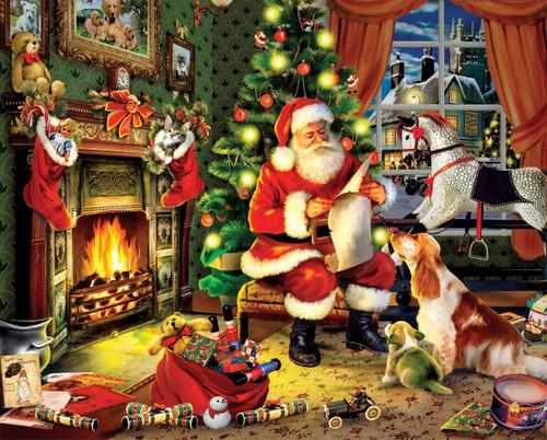"""Santa's List"" 300 Piece Jigsaw Puzzle | White Mountain"