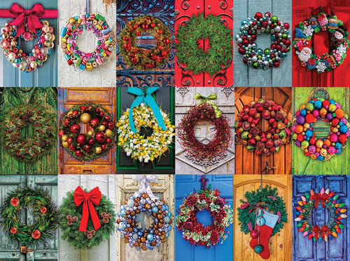 """Holiday Wreaths"" 550 Piece Jigsaw Puzzle 