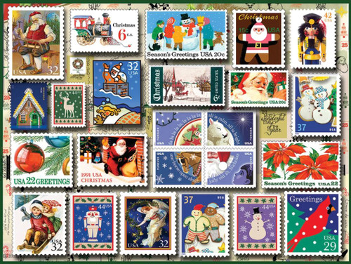 """""""Holiday Stamps"""" 550 Piece Jigsaw Puzzle 