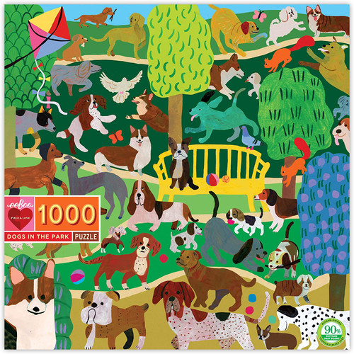 """Dogs in the Park"" 1000 Piece Jigsaw Puzzle 