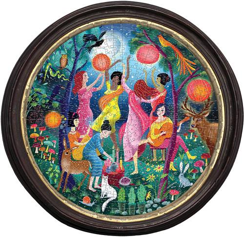 """Moon Dance"" 500 Piece Round Jigsaw Puzzle | eeBoo"