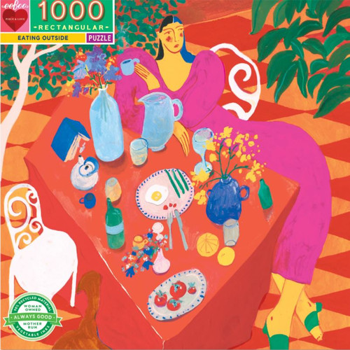 """Eating Outside"" 1000 Piece Jigsaw Puzzle 